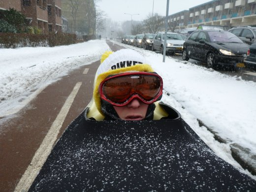 Cycling with snow goggles