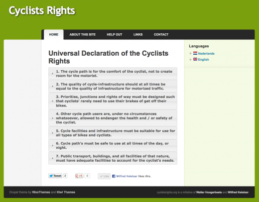 Cyclists Rights (screenshot)
