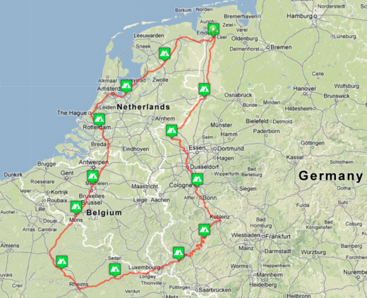 Euro Tour 2013 (route Plan B)