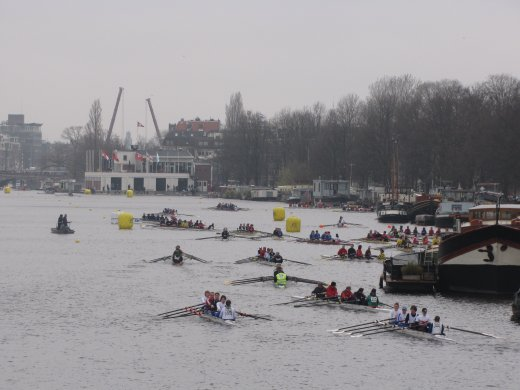 Head of the River Amstel (2012) - queuing