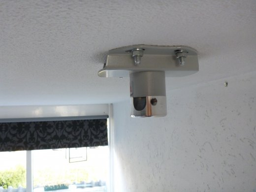 Installing home theater projection (the projector mount is installed)