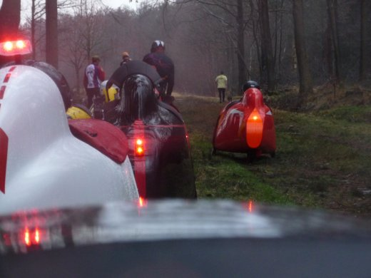 Northern Velomobile Ride 2012 - traffic jam on the cycle path