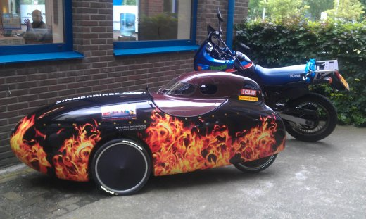 Sinner velomobile hood (on Velox Incendia)